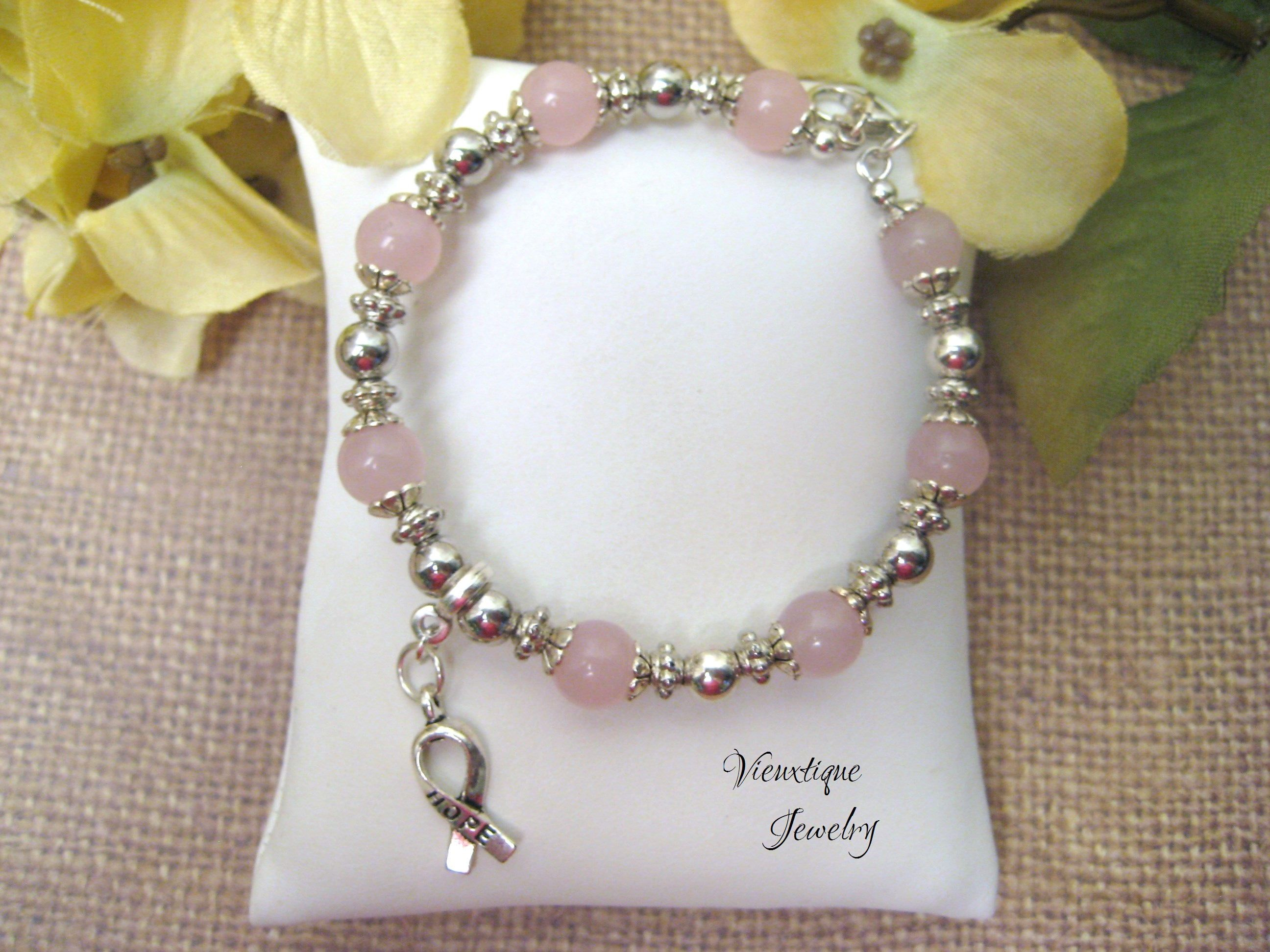 fullxfull awareness survivor cancer ribbon breast rose p jewelry celebrate il quartz gift bracelet kqio