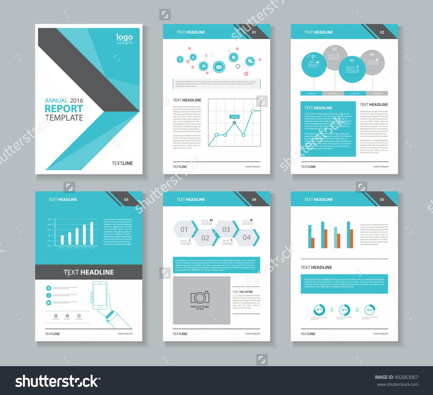 Page Layout For Company Profile ,annual Report , Brochure ,and Flyer,  Template With  Annual Reports Templates