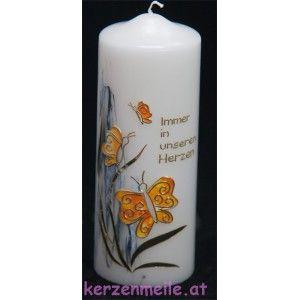 Trauerkerze Schmetterling   kerzen gestalten   Candles ...
