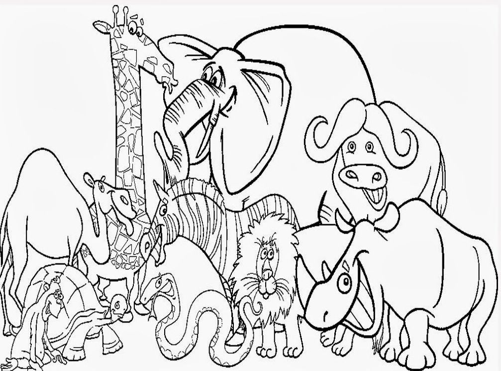 Cute Zoo Animal Coloring Pages