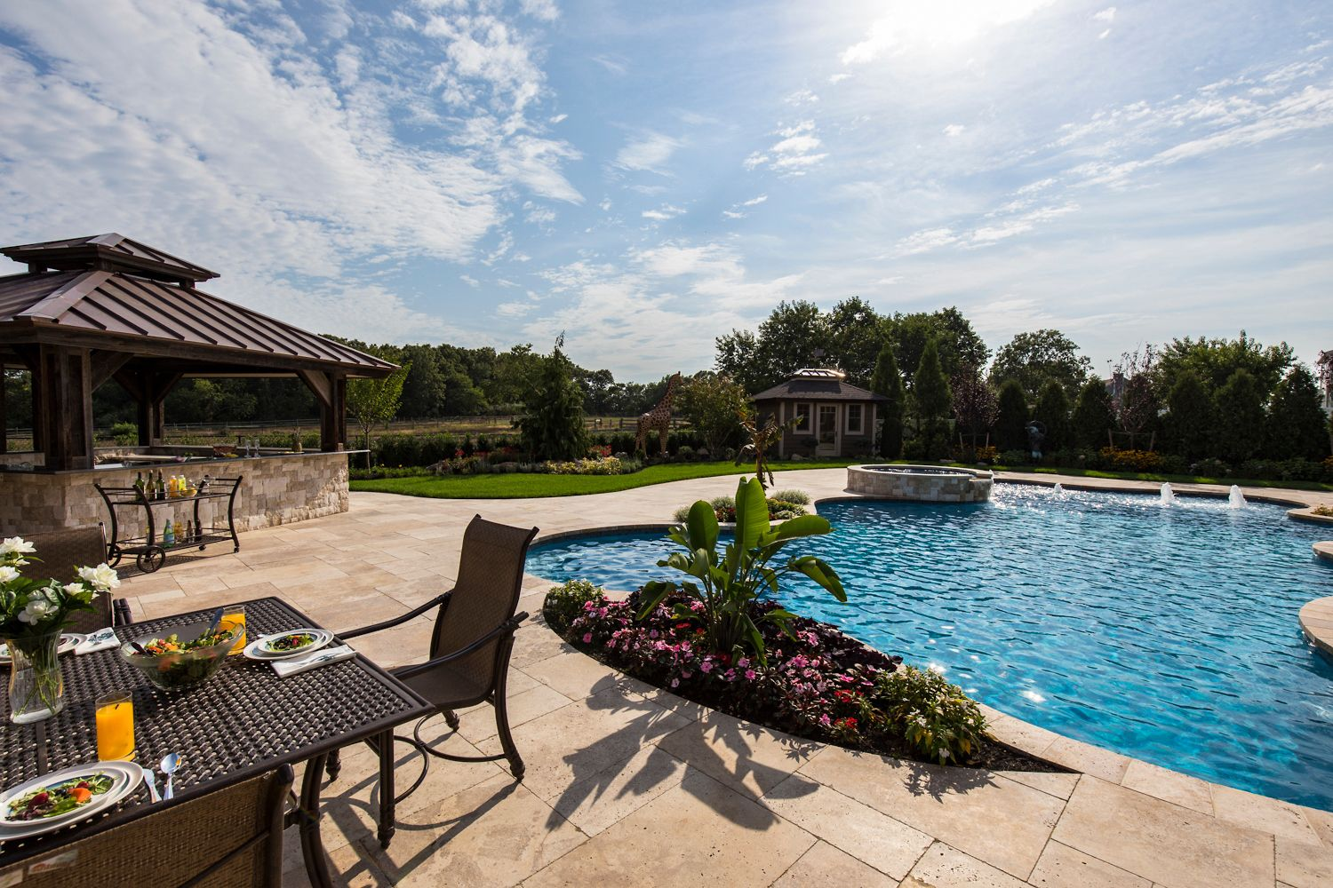 Lifetime Construction Created The Ultimate Backyard Oasis On Long Island  With Cambridge Pavingstones With ArmorTec.