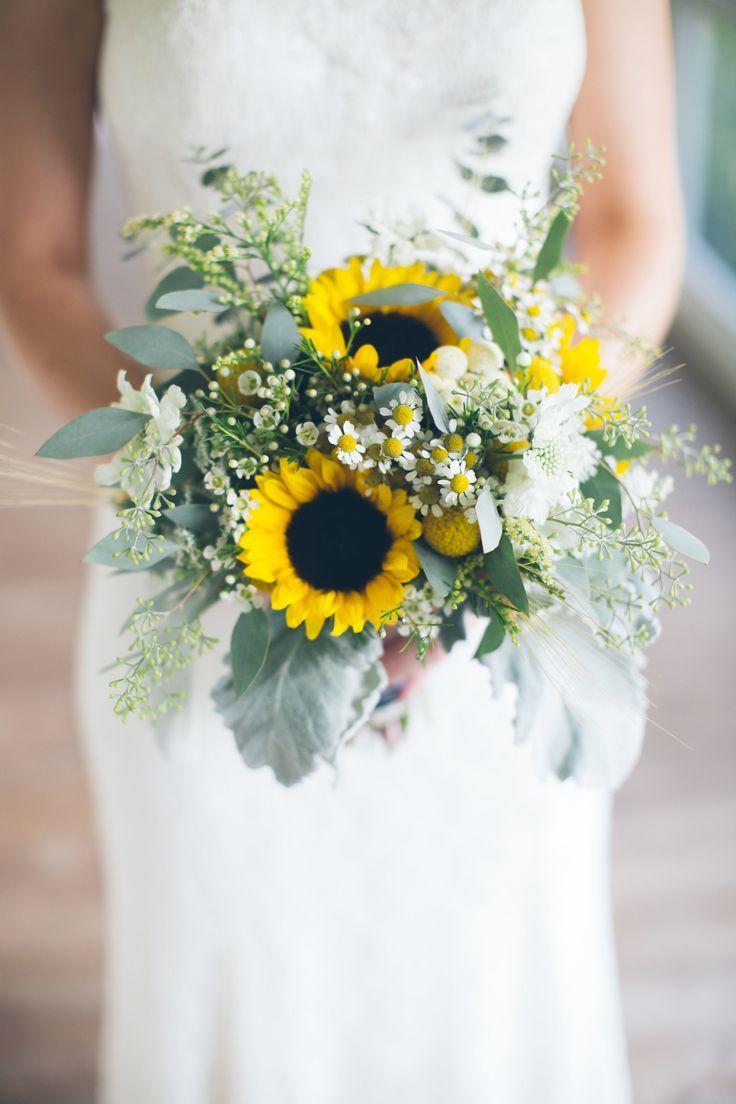 Work by Jolie Bridal bouquets Sunflower wedding Sunflower and