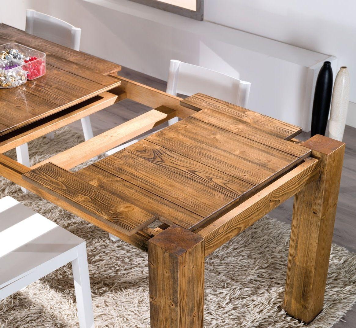 tavolo allungabile mira in legno | tavoli legno | pinterest - Tavolo Allungabile Legno Massello