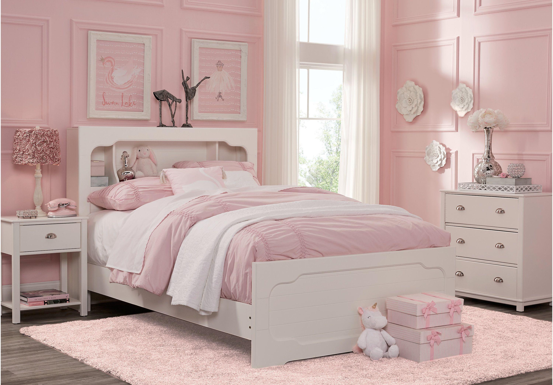 Edgegrove White 3 Pc Full Bookcase Bedroom Bedroom Sets
