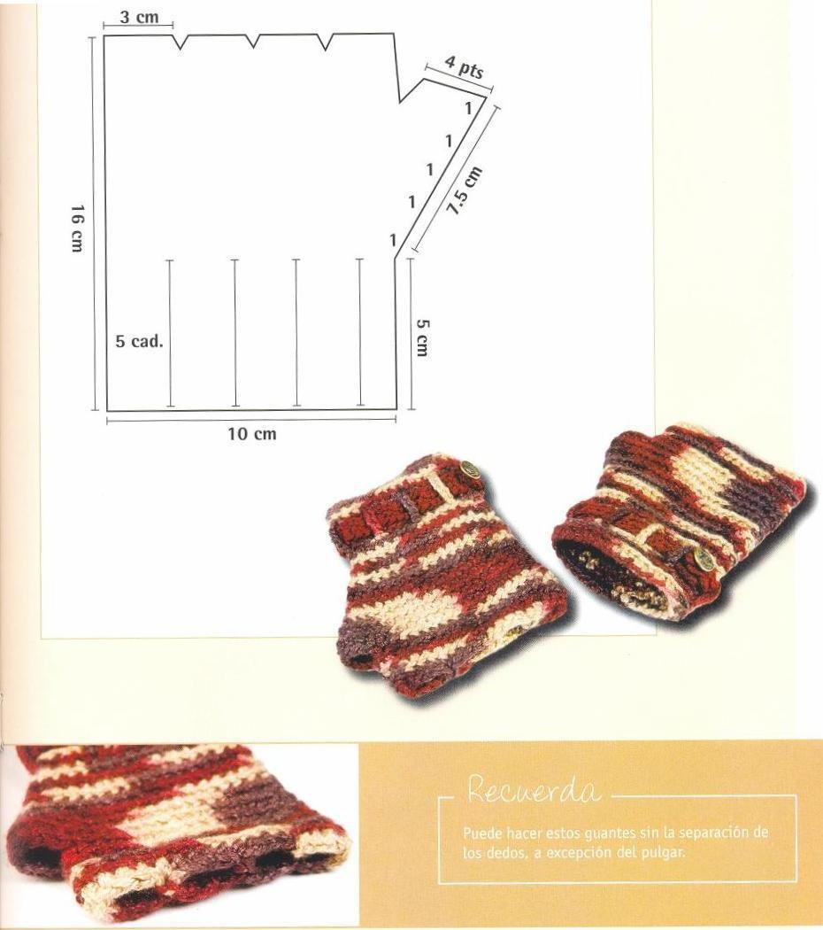 Crochet Patterns: How to make a Fingerless Gloves with Buckle ...