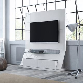 Manhattan Comfort Intrepid Freestanding Theater Entertainment Center ...