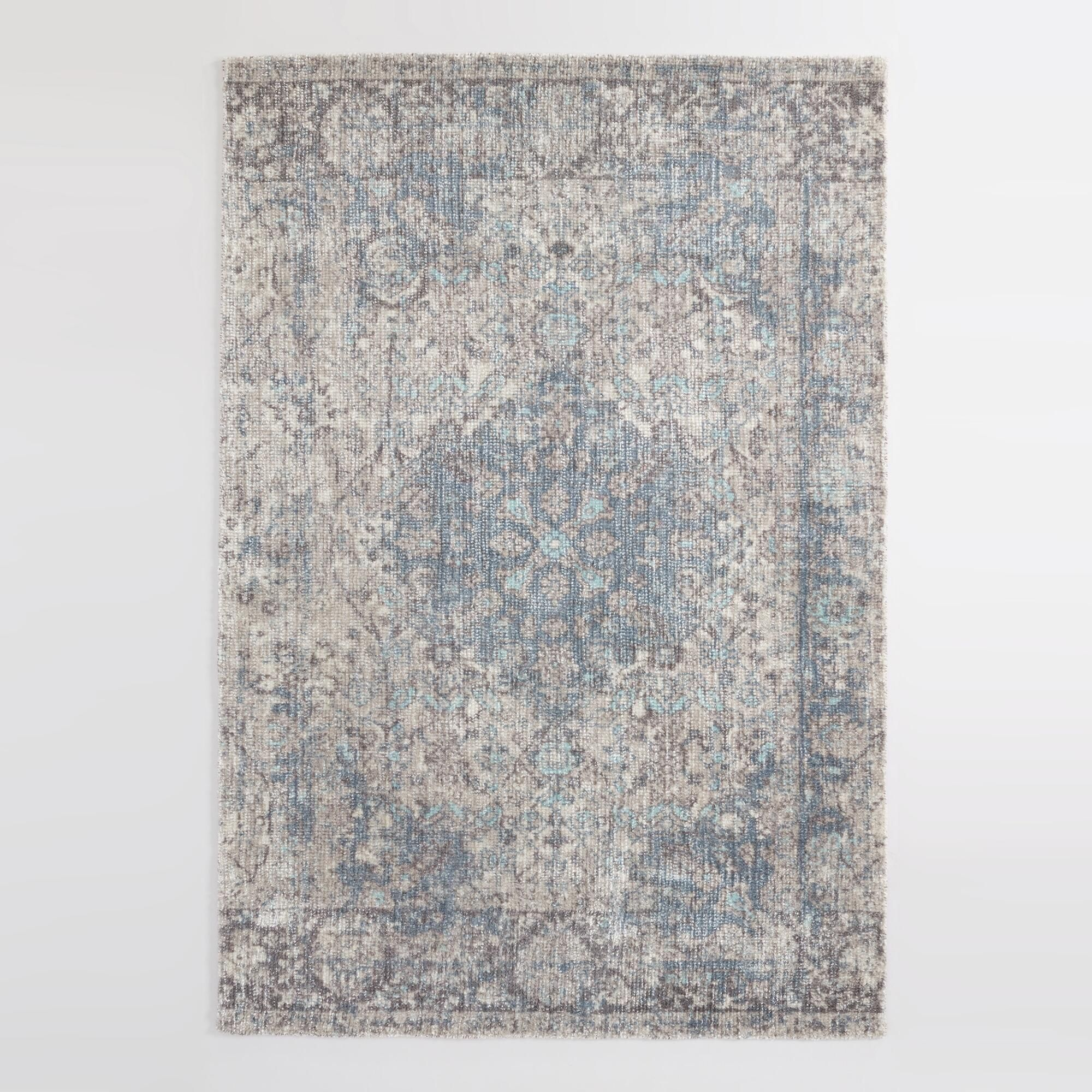 Blue And Gray Persian Style Cyprus Area Rug 8 X 10 By World