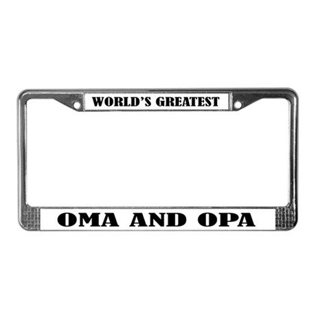 WORLDS GREATEST OMA OPA License Plate Frame on CafePress.com | Oma\'s ...