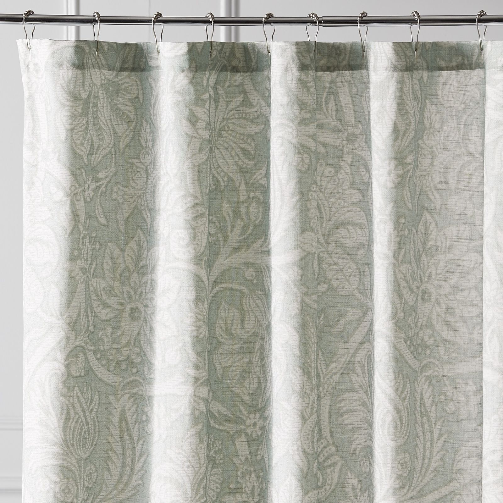 Add The Classic Charm Of This Jacobean Floral Print Shower Curtain To Your  Private Bath.