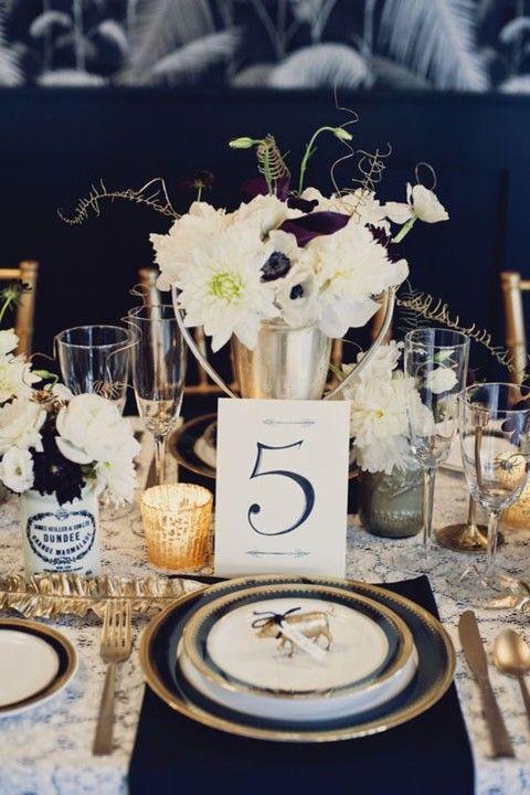 elegant navy and gold wedding ideas happywedd com www madampaloozaemporium com www facebook com madampalooza