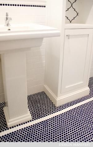 Navy Penny Tile By Marissa