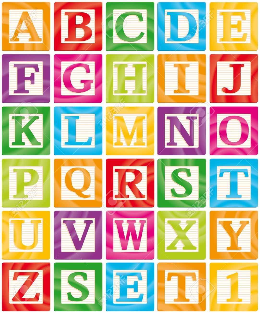 Vector Baby Blocks Set 1 Of 3 Capital Letters