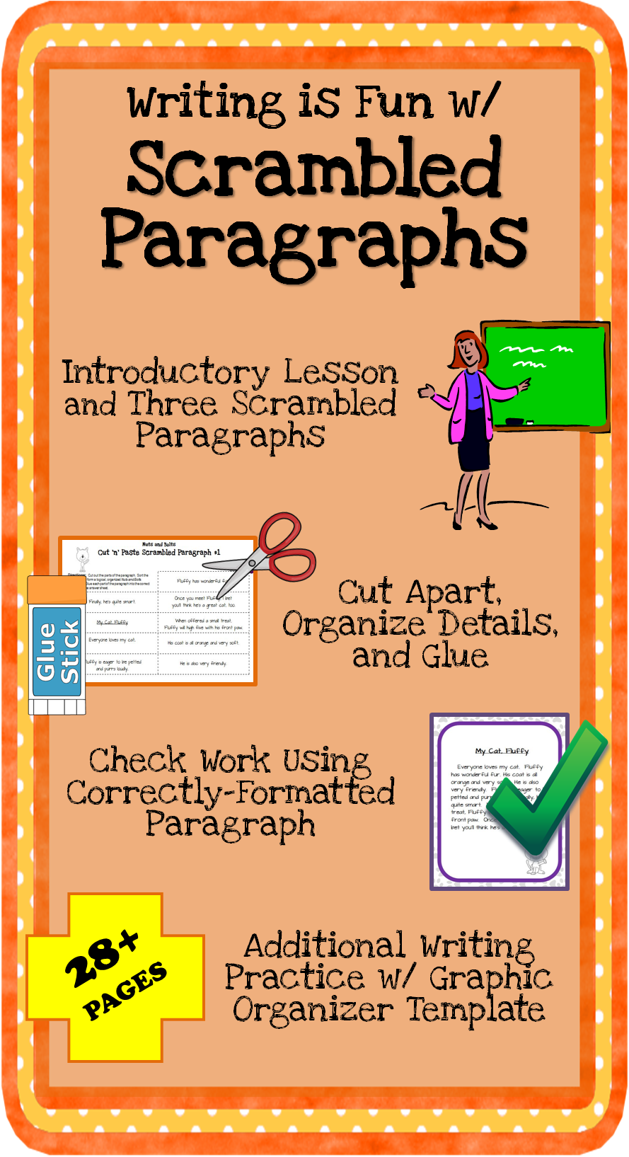 small resolution of Scrambled Paragraph Writing Activities: Mini Unit   Paragraph writing