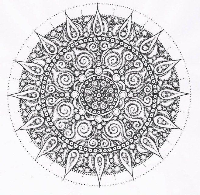 Hindu Mandala Design Mandala Coloring Pages Abstract Coloring Pages Coloring Pages