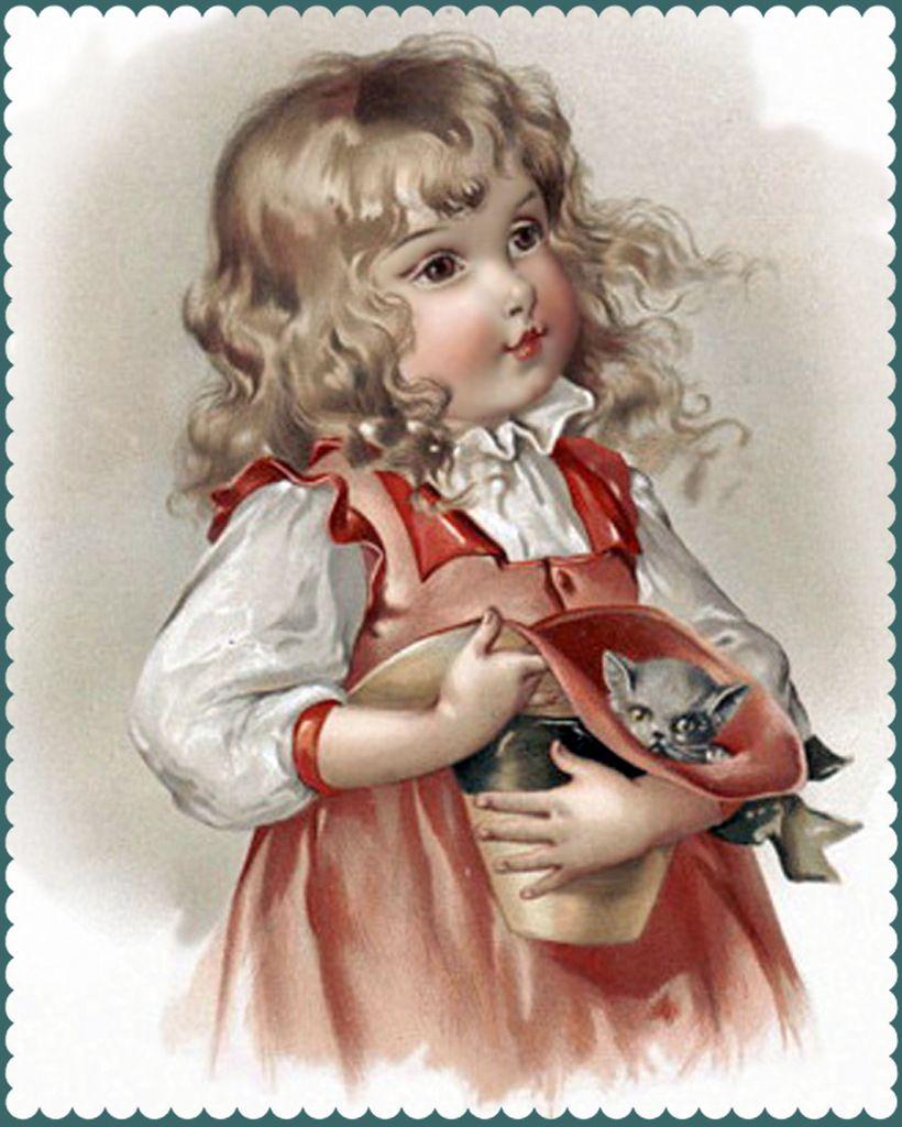 Открытки дети с куклами