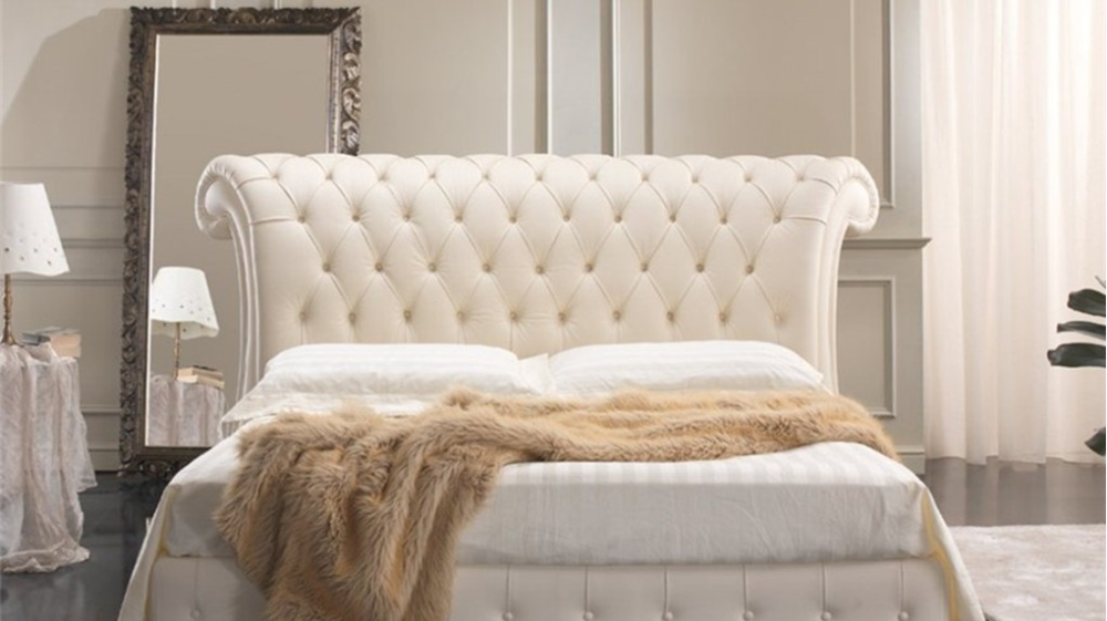 Quarrata VENICE Classic Contemporary Italian Leather Bed | French Style Bedroom Furniture, Leather Bed, Leather Bed Frame