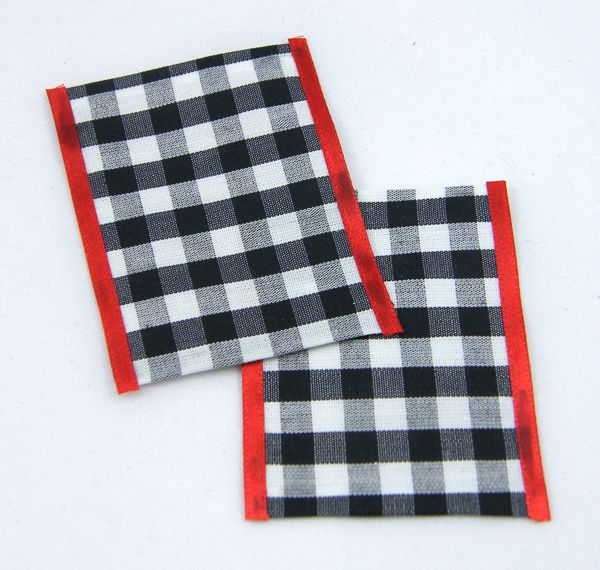 Black and white gingham tea towels