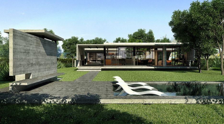 Exterior-04_R Exterior-03_R Besonias Almeida arch  moderne betong/tre / natur / sleek lines, overdekke uteplass