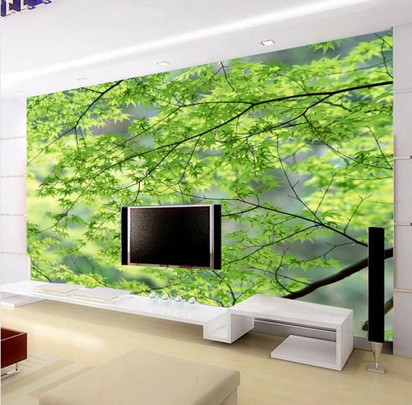 Marvelous Find More Wallpapers Information About Green Tree Lager Wall Mural Wallpaper  For Living Room Wall Decor Part 24