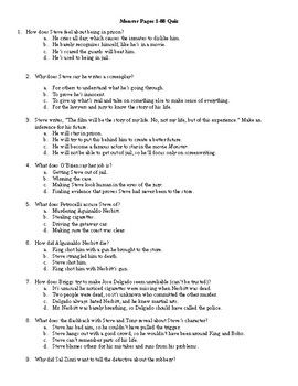 assessments for monster by walter dean myers question stems   3 assessments for the novel monster by walter dean myers questions are common core
