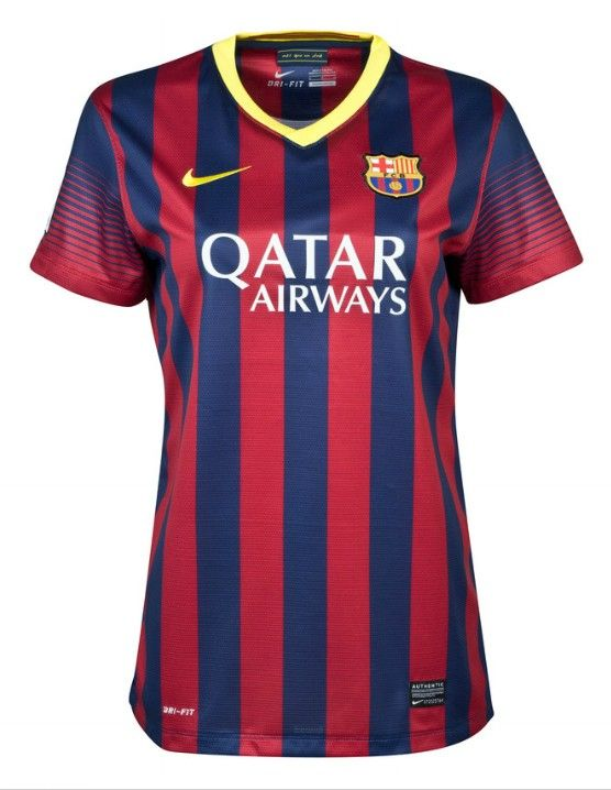 13-14 wholesale Barcelona Home Womens Jersey Shirt  f7c4a3b574