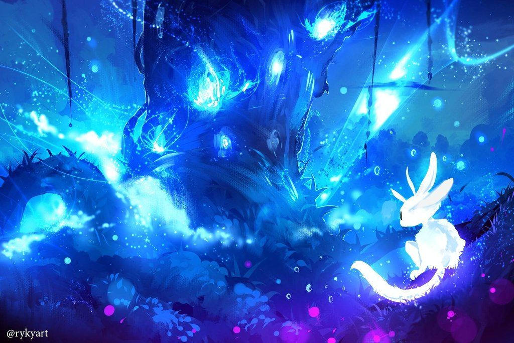 Ori And The Blind Forest By Ryky Forest Art Environmental Art Anime Wallpaper