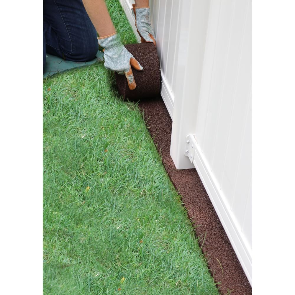 Vigoro 32 Ft X 5 In Dark Brown Earth Rubber Roll Edging Four 8 Ft Rolls Vig Eer 8db Mc The Home Depot In 2020 Lawn Edging Patio Gazebo Mowing Strip