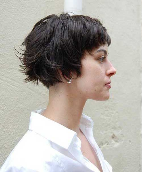 Pixie Bob Haircut With Bangs Hair With Images Thick Hair