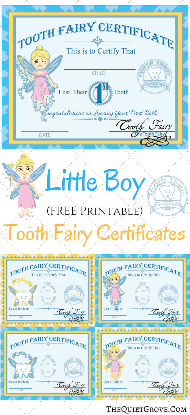Free printable tooth fairy certificates tooth fairy certificate free printable tooth fairy certificates xflitez Choice Image