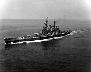 USS North Carolina BB-55.   USSNorth Carolina(BB-55)was the lead shipofNorth Carolina-class battleshipsand the fourthwarshipin theU.S. Navyto be named in honor of theState of North Carolina. She was the first newly constructed American battleshipto enter service during World War II, and took part in every major naval offensive in thePacific Theater of Operations; her 15battle stars made her themost highly decorated American battleship of World War II. She is now amuseum…