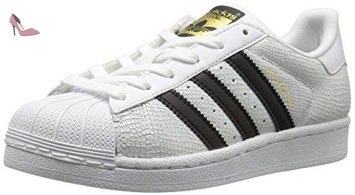 65bebffccb Adidas Youth Superstar Reptile Footwear White Core Black Leather Trainers  40 EU - Chaussures adidas (