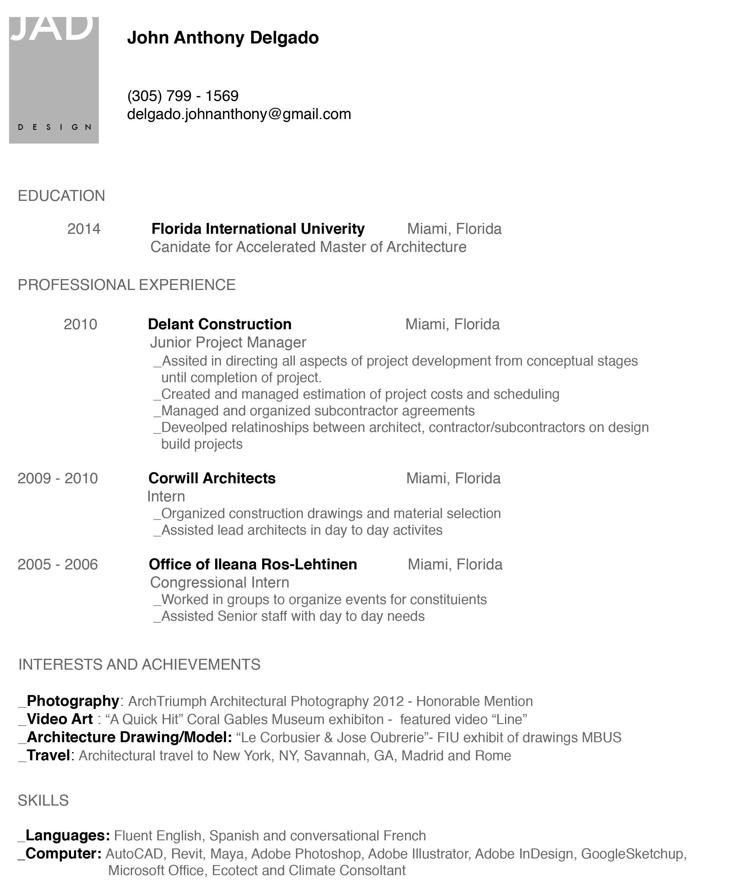 Fall 2013 Curriculum Vitae Curriculum Vitae Curriculum Education