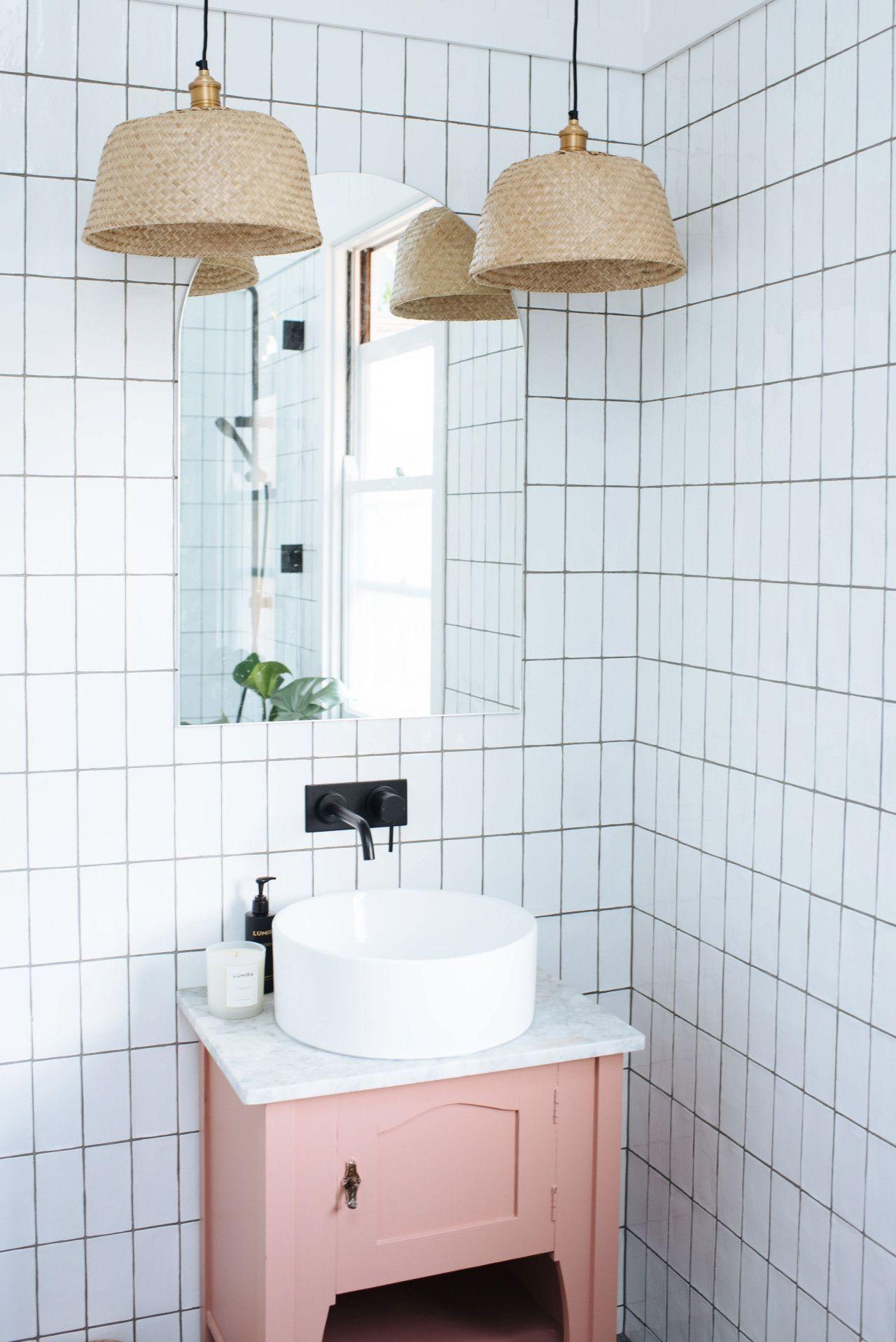 Diy Basket Pendant Lights An Ikea Hack Vintage Bathroom Vanities Ikea Basket Ikea Hack