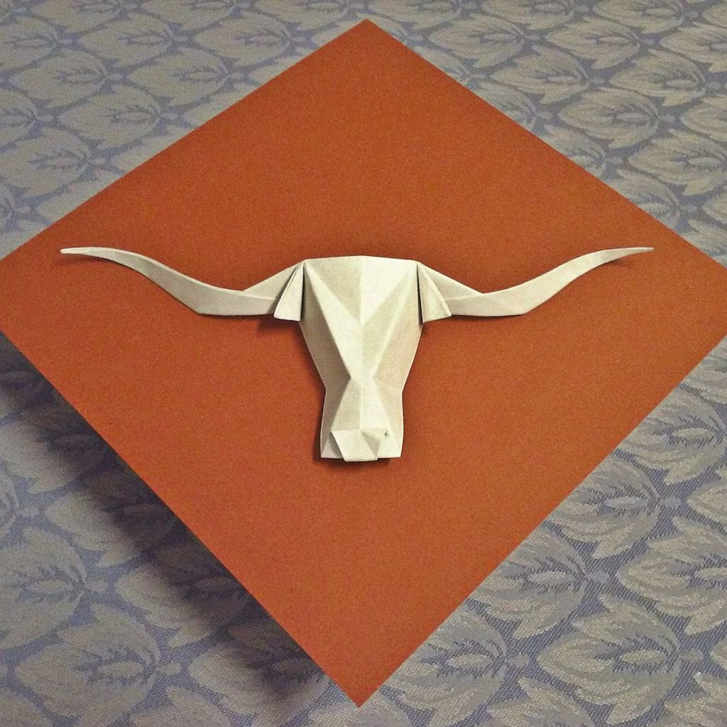 Bevo texas longhorn by the real juston cut bend fold crease bevo texas longhorn by the real juston jeuxipadfo Image collections