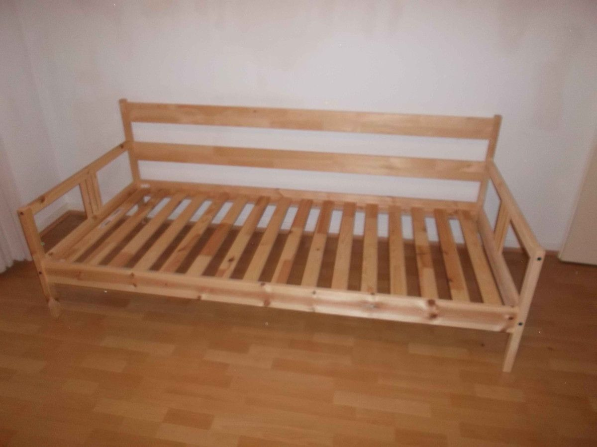 Two Fjellse Beds Make A Living Room Ikea Hackers How To Make Bed Ikea Bed Hack Ikea Twin Bed