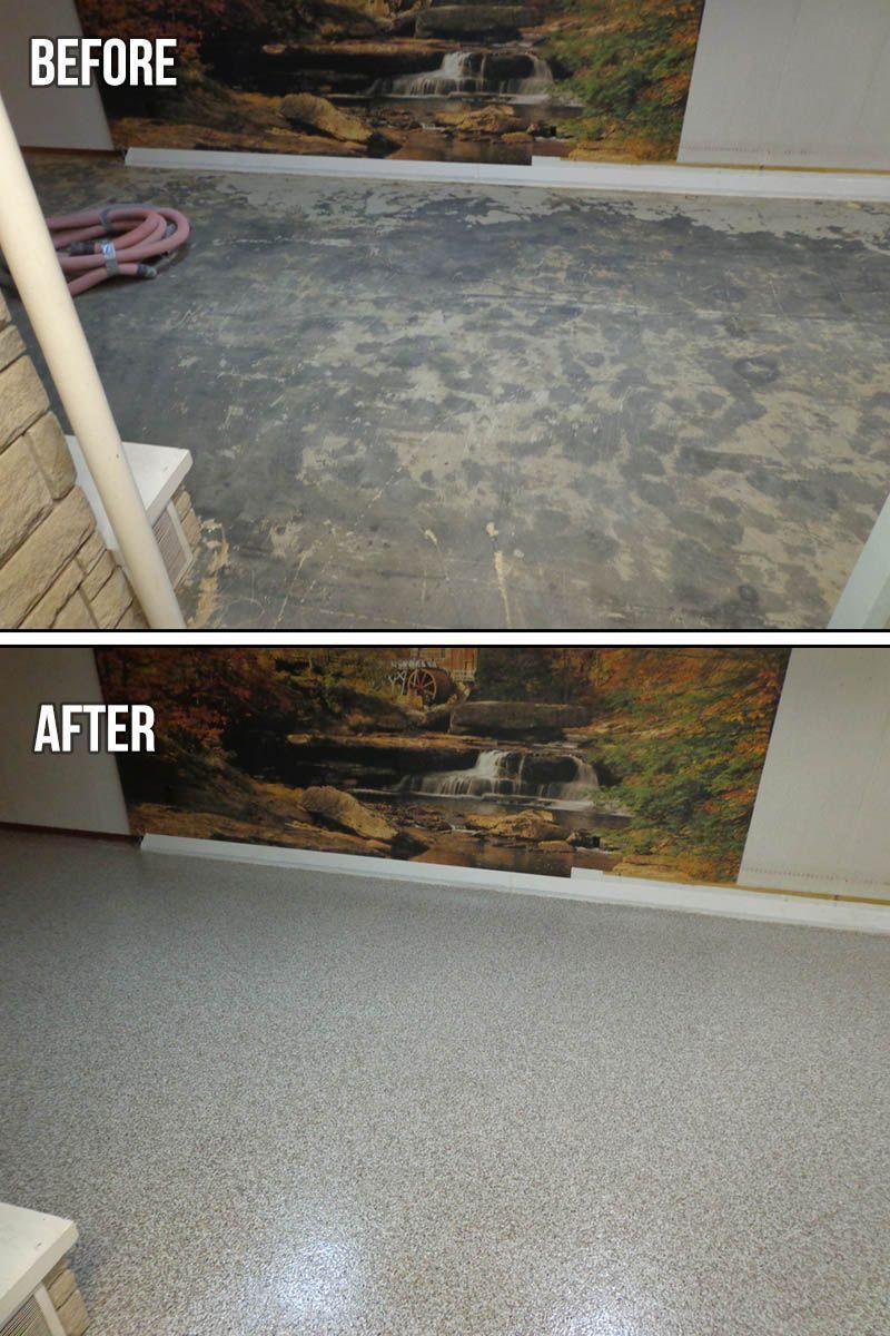 epoxy chip basement floor the