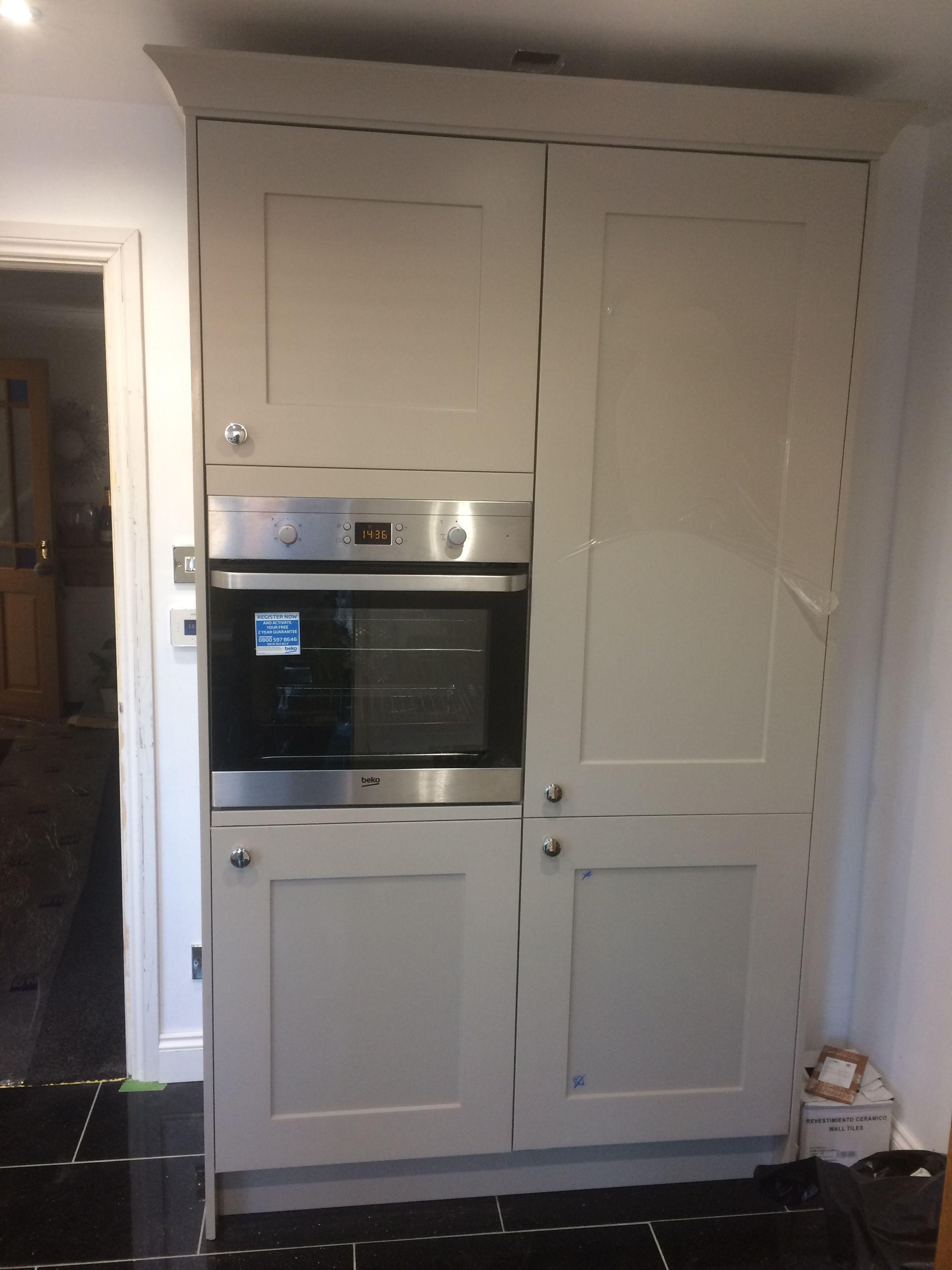 Built In Fridge Freezer And Oven Housing Unit Kitchen Built Ins