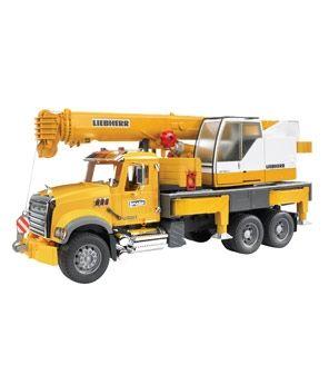 Mack Granite Bruder Yellow Crane Truck Toy Trucks Mack Trucks Trucks