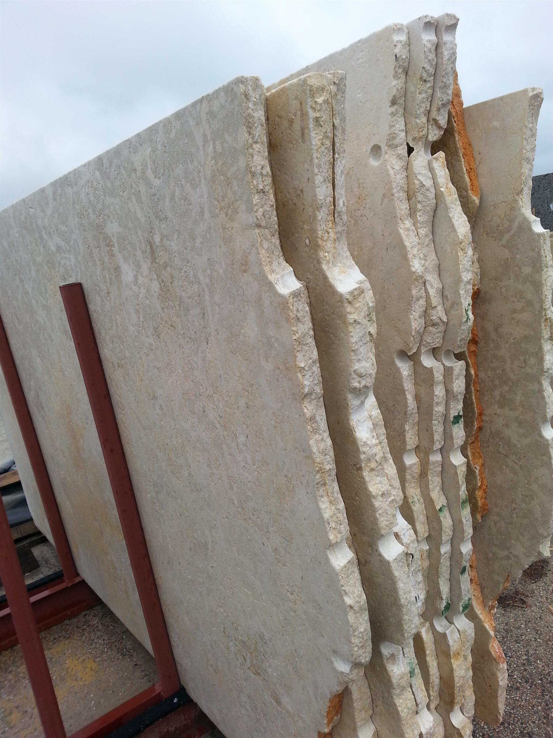 - Jerusalem Limestone- Countertop Slab #SimpleBacksplashIdeas (With