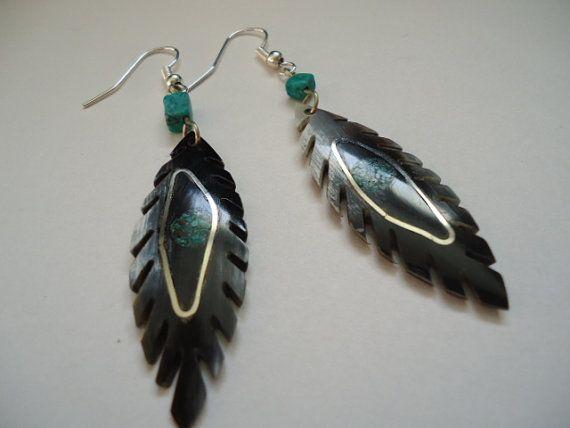 Bull horn earrings by IngridFonseca on Etsy, $14.00