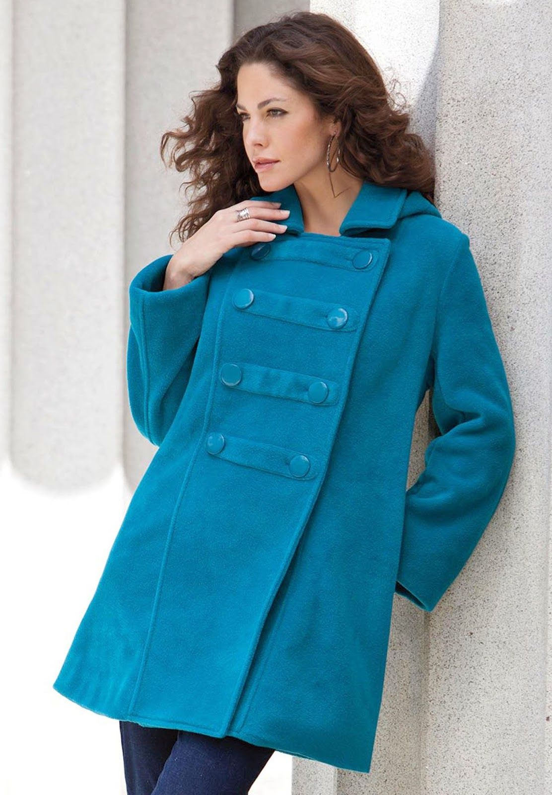 all about women's things: the best plus size spring coats