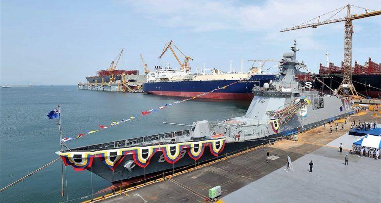 Dsme Launched Second Daegu Class Ffx Batch Ii Frigate For Rok Navy Naval Daegu Navy