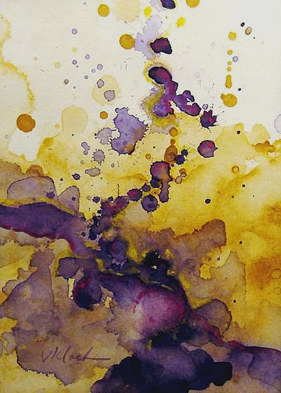 Art Print Of Original Watercolor Painting Titled Color Spot 005
