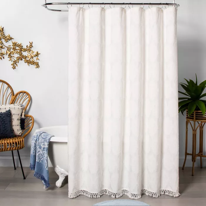 Textured Shower Curtain Off White Opalhouse Target With
