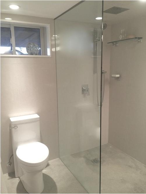 one piece shower faucet. Basement bathroom  Porcelain wall tiles modern one piece toilet hand shower