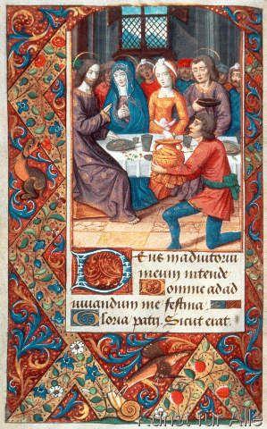Buchmalerei Franzosisch Hochzeit Zu Kana Jean Poyet Kunstdruck Glasbild Bijbelse Kunst Kunst Miniature