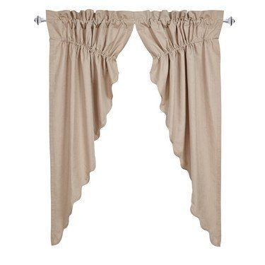 Charlotte Natural Scalloped Lined Prairie Curtains | Rod pocket ... : charlotte quilt shops - Adamdwight.com