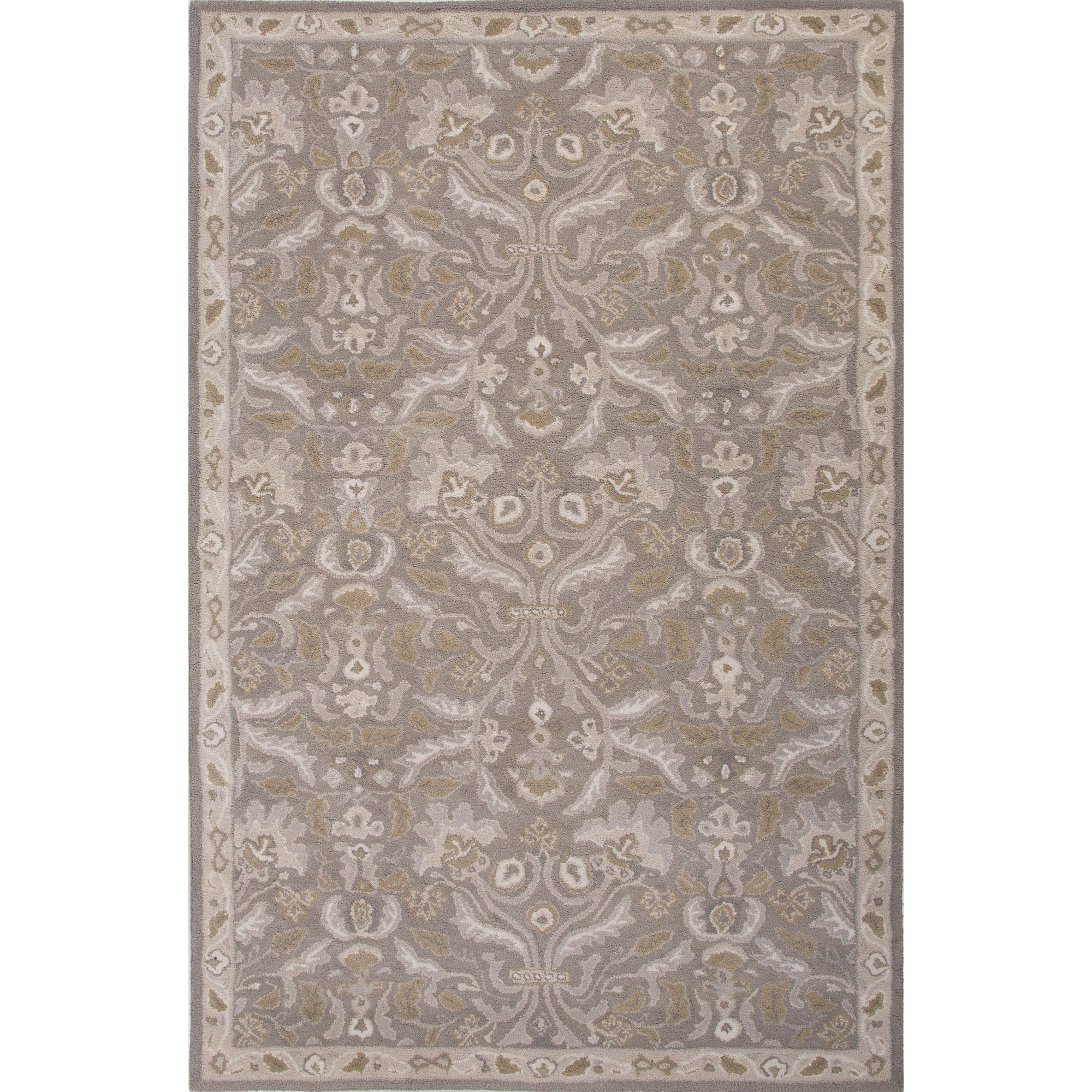 Jaipur Rugs Transitional Oriental Pattern Gray Wool Area Rug PM121 (Rectangle)