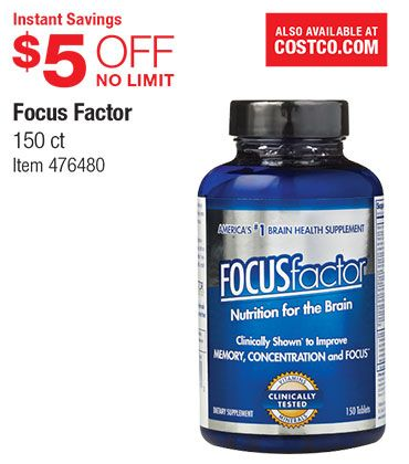 Warehouse Coupon Offers Brain Nutrition Brain Health Supplements Coupons