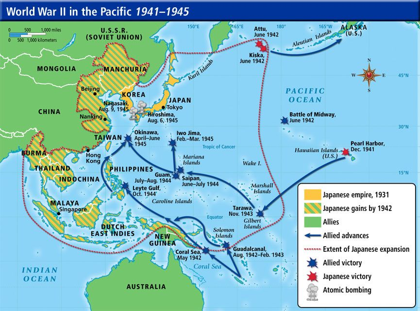 pacific theater ww2 map by christian thompson